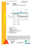Hidroizolatii cu prindere mecanica pentru terase necirculabile-detaliu de scurgere jgheab SIKA