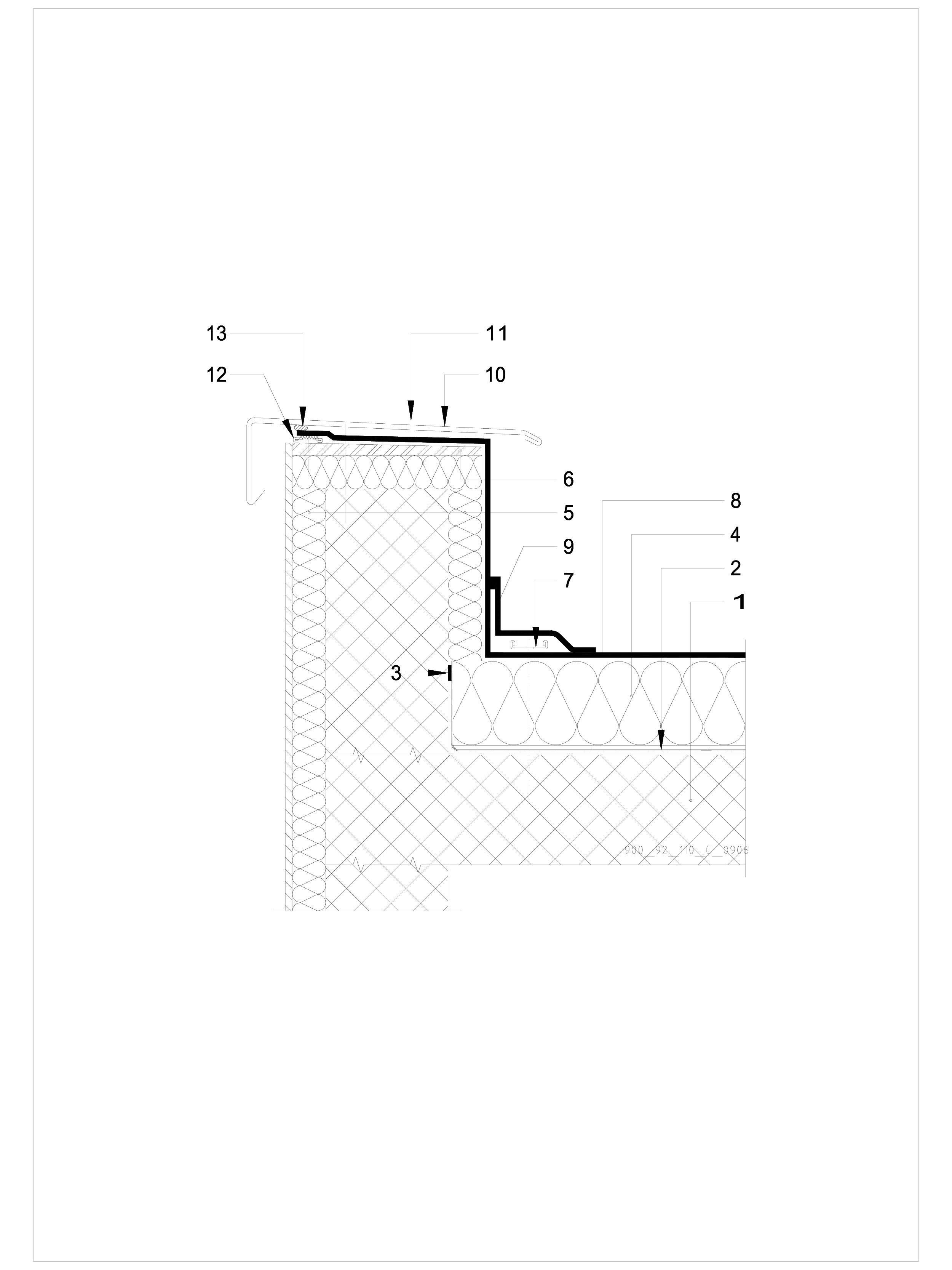 Pagina 1 - CAD-DWG Hidroizolatii cu prindere mecanica pentru terase necirculabile-detaliu de atic...