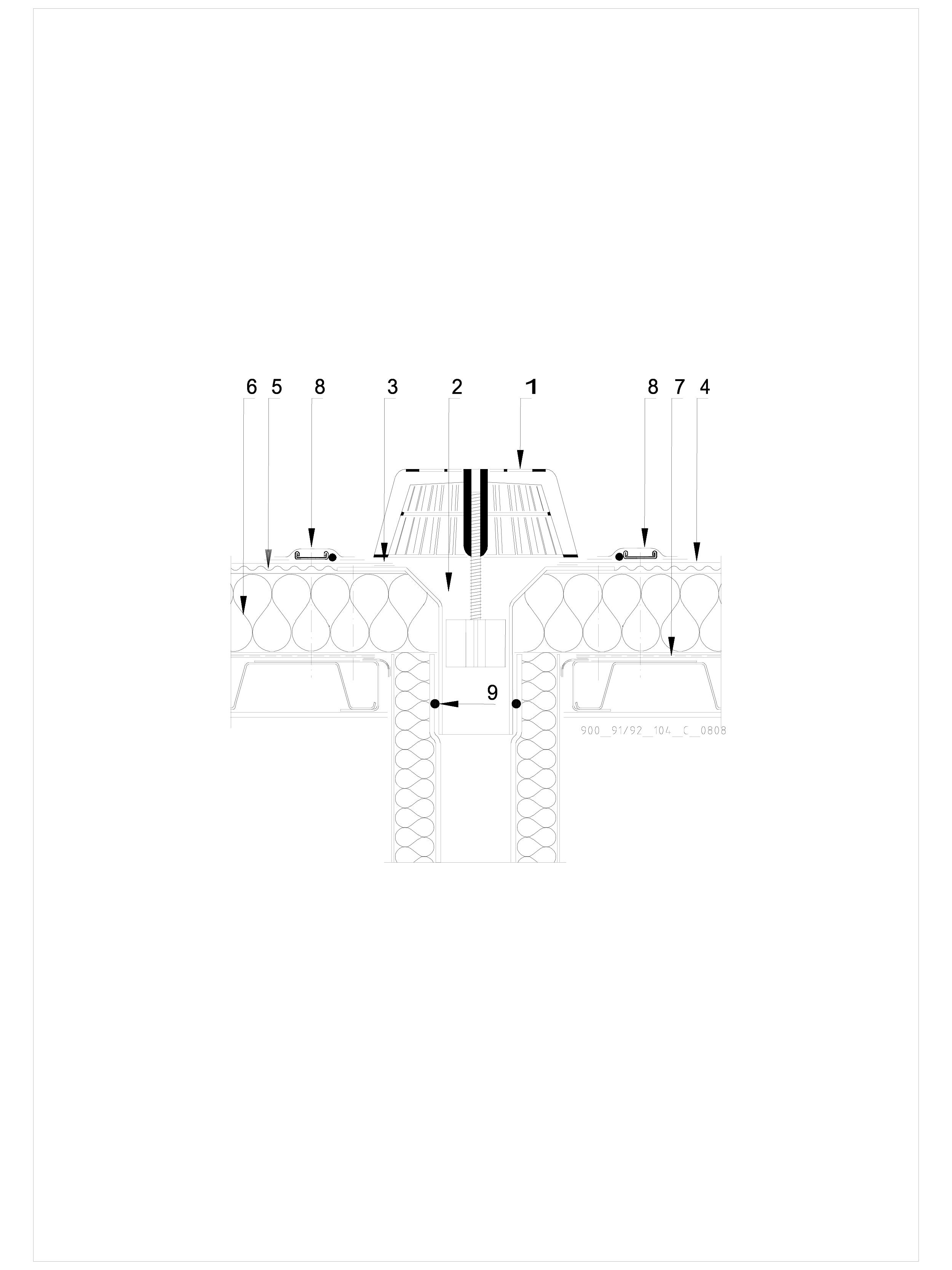 Pagina 1 - CAD-DWG Hidroizolatii cu prindere mecanica pentru terase necirculabile-detaliu gura de...