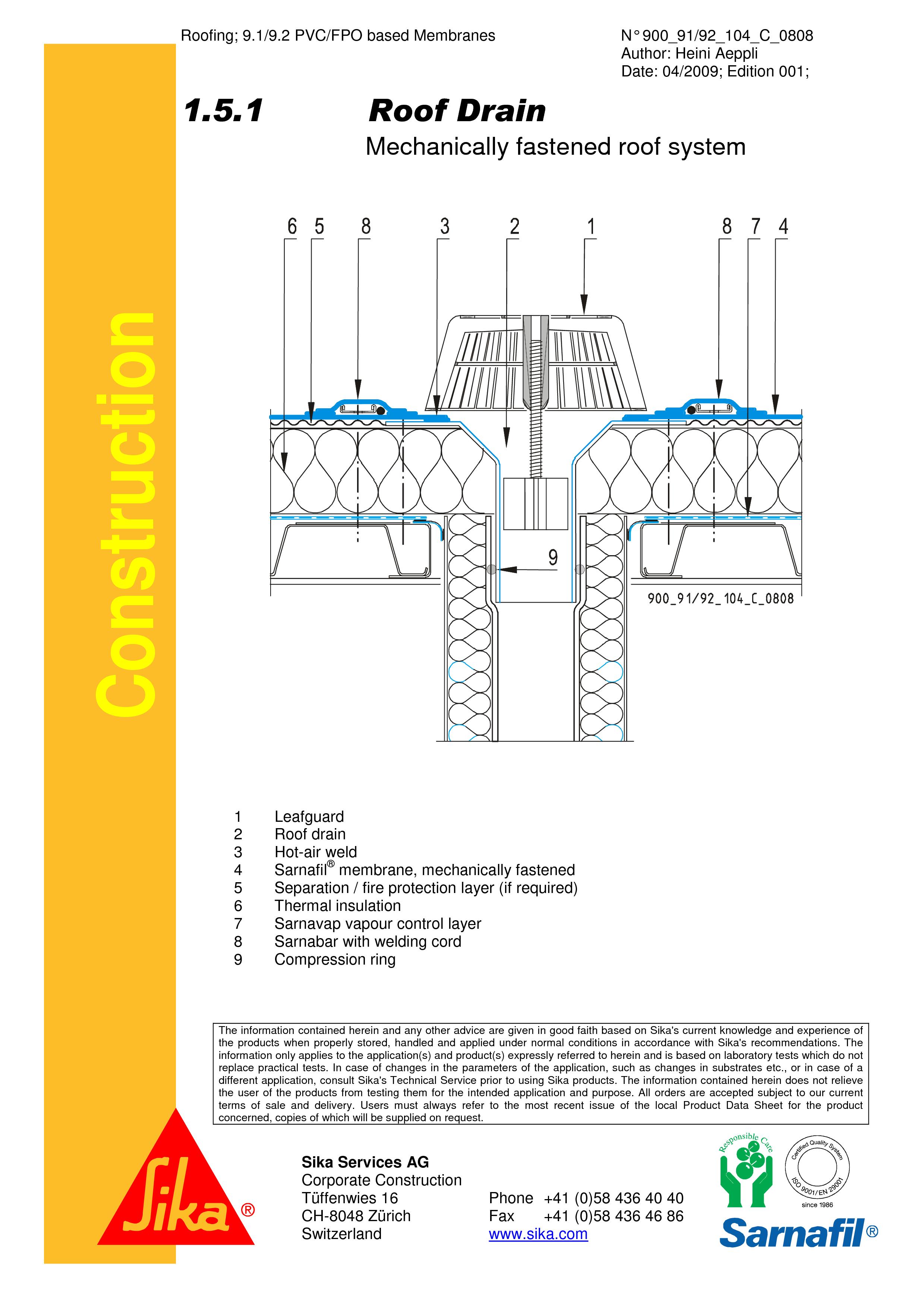 Pagina 1 - CAD-PDF Hidroizolatii cu prindere mecanica pentru terase necirculabile-detaliu gura de...