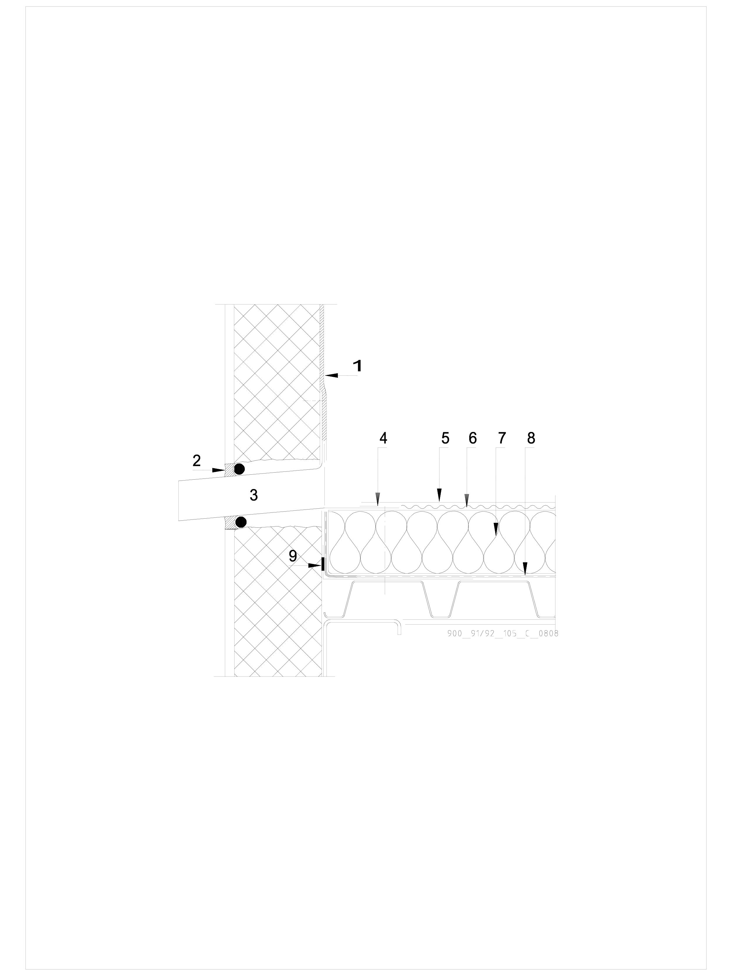 Pagina 1 - CAD-DWG Hidroizolatii cu prindere mecanica pentru terase necirculabile-detaliu de...