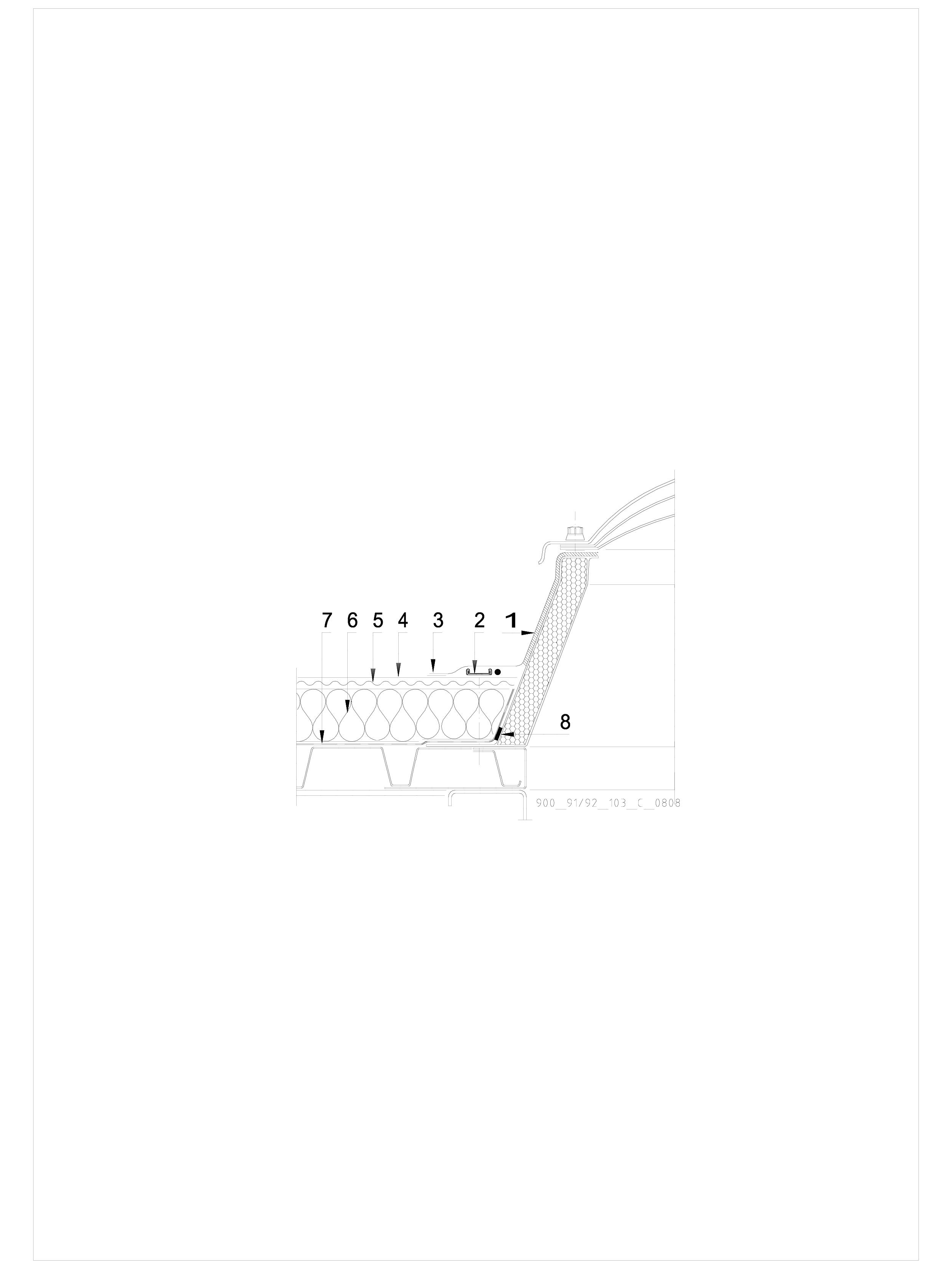 Pagina 1 - CAD-DWG Hidroizolatii cu prindere mecanica pentru terase necirculabile-detaliu de racord ...