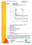 Hidroizolatii cu prindere mecanica pentru terase necirculabile-detaliu de etansare SIKA