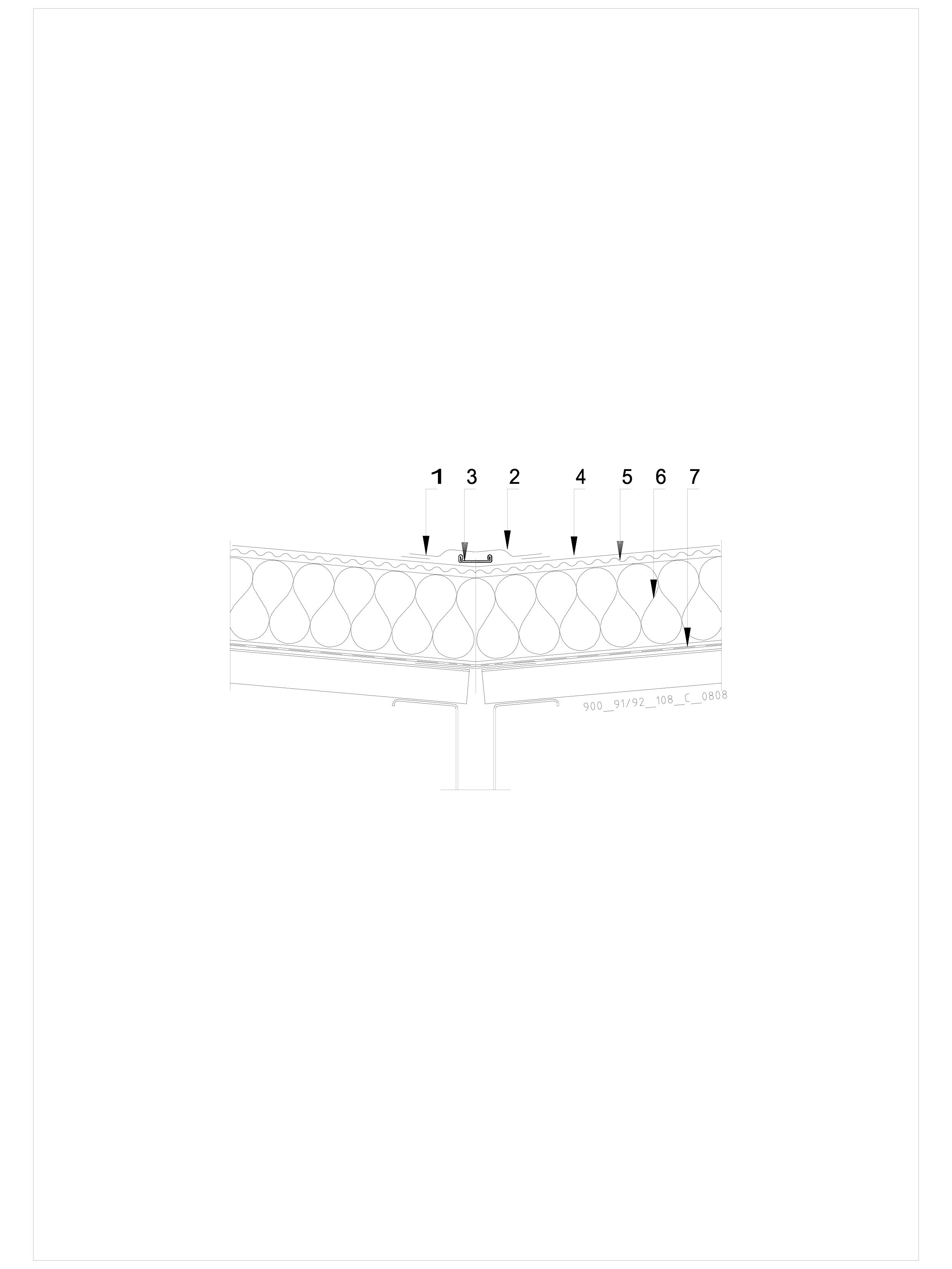 Pagina 1 - CAD-DWG Hidroizolatii cu prindere mecanica pentru terase necirculabile-detaliu de dalie...