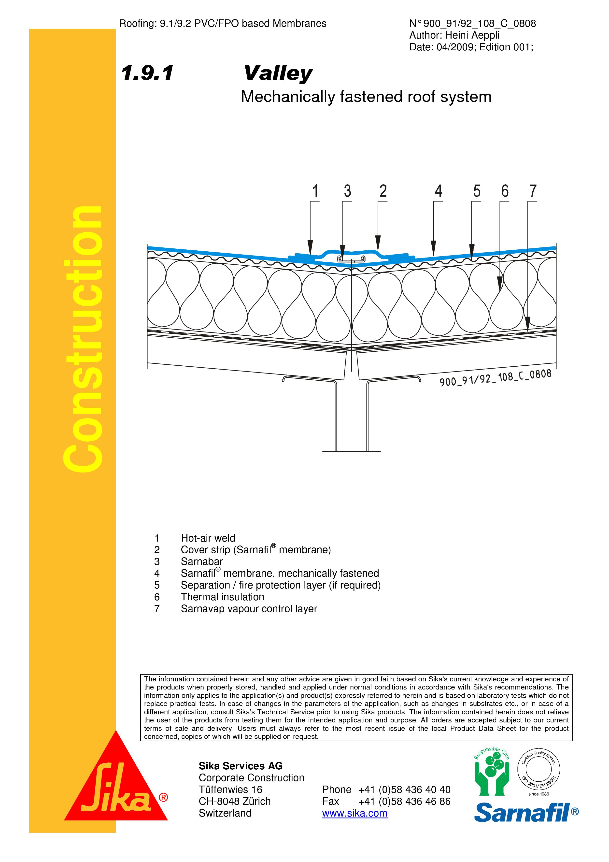 Pagina 1 - CAD-PDF Hidroizolatii cu prindere mecanica pentru terase necirculabile-detaliu de dalie...