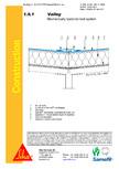 Hidroizolatii cu prindere mecanica pentru terase necirculabile-detaliu de dalie SIKA