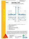 Hidroizolatii cu prindere mecanica pentru terase necirculabile-detaliu de ventilatie