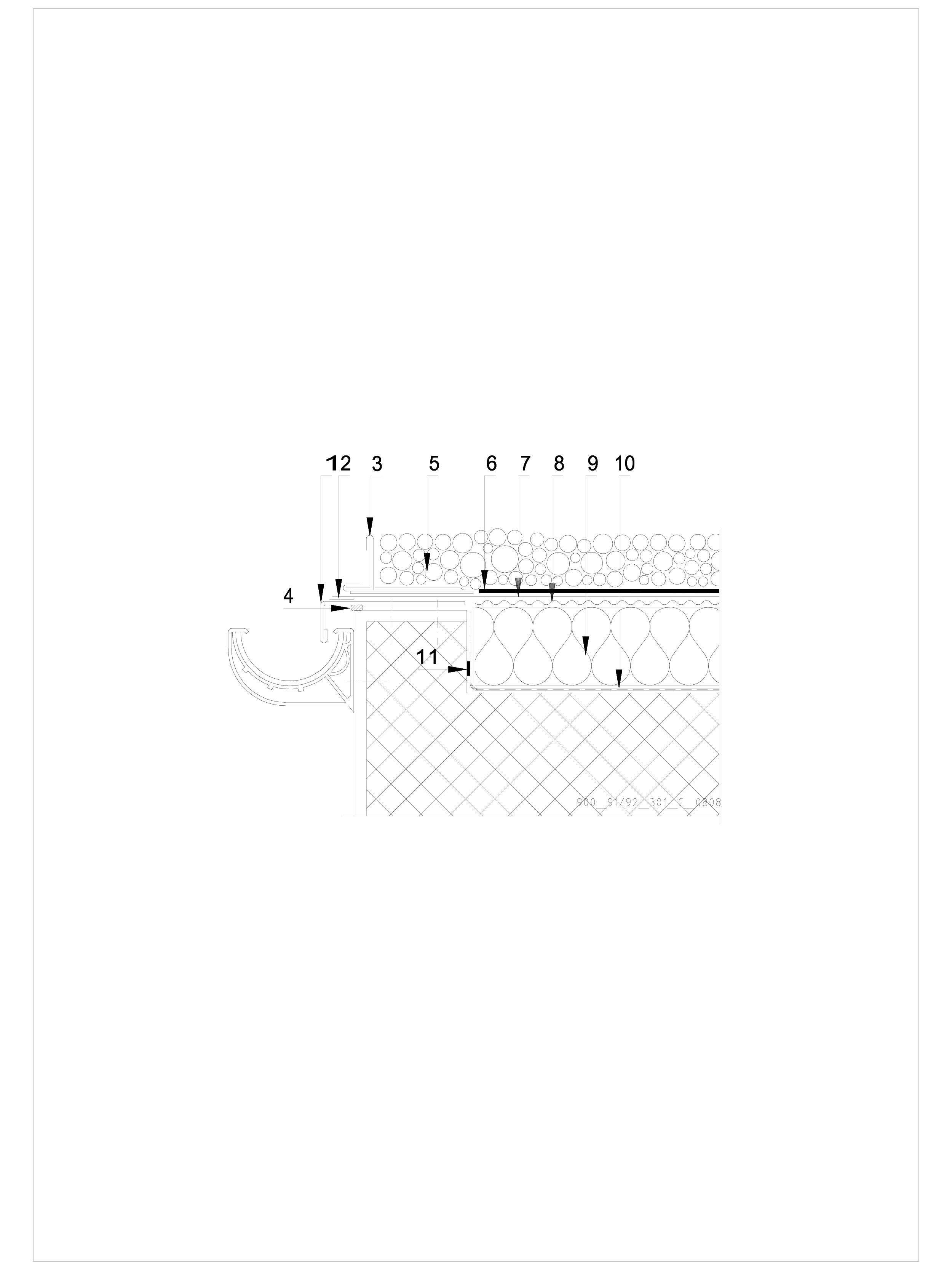 Pagina 1 - CAD-DWG Terasa recirculabila cu pietris-detaliu de scurgere jgheab SIKA Detaliu de montaj...