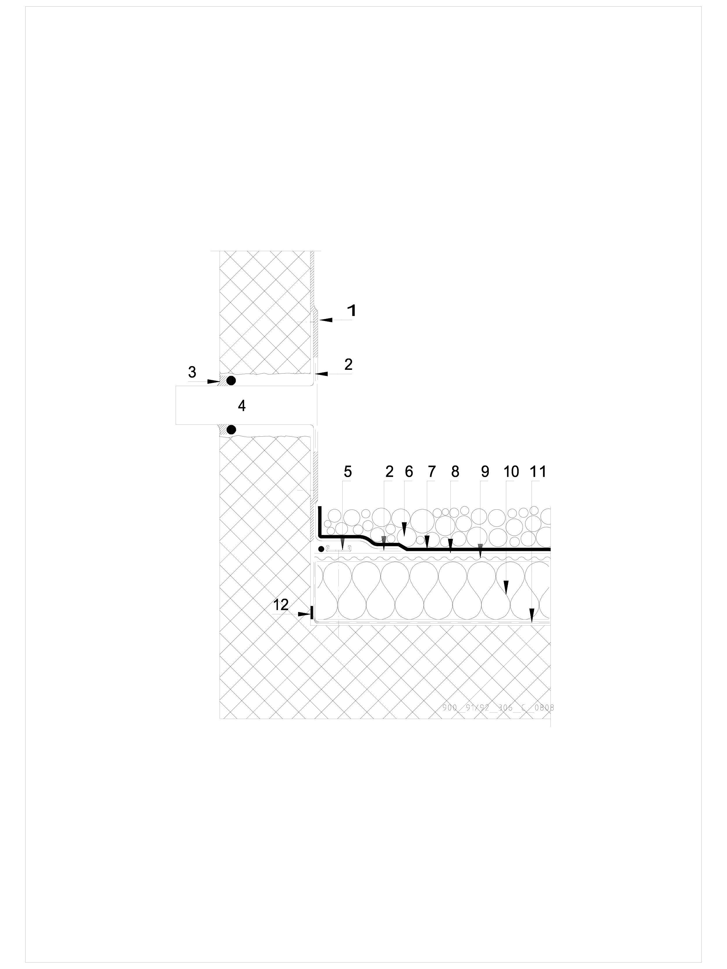 Pagina 1 - CAD-DWG Terasa recirculabila cu pietris-detaliu de evacuare apa, preaplin SIKA Detaliu de...
