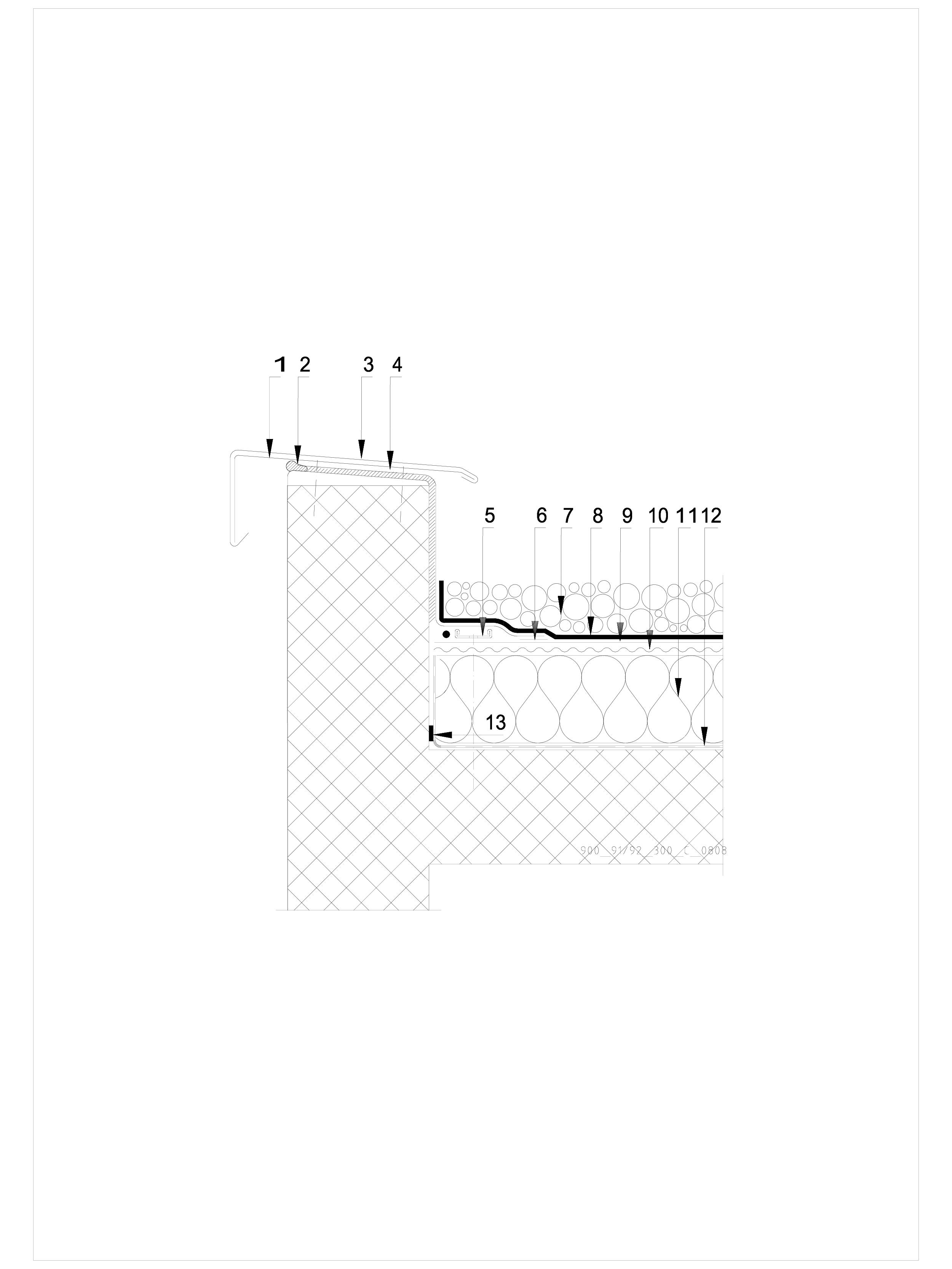 Pagina 1 - CAD-DWG Terasa recirculabila cu pietris-detaliu de atic SIKA Detaliu de montaj Sika...