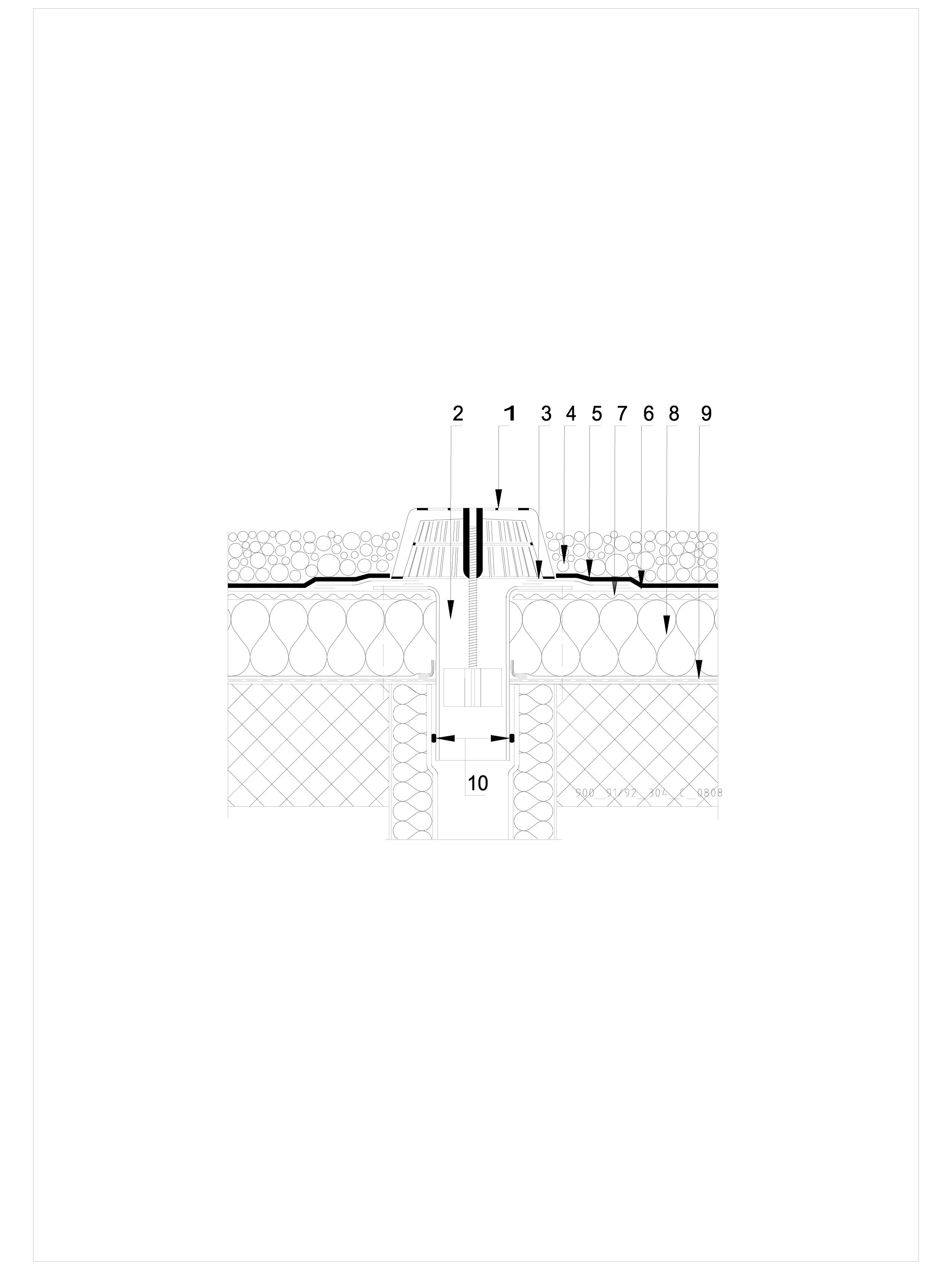 Pagina 1 - CAD-DWG Terasa recirculabila cu pietris-detaliu gura de scurgere SIKA Detaliu de montaj...