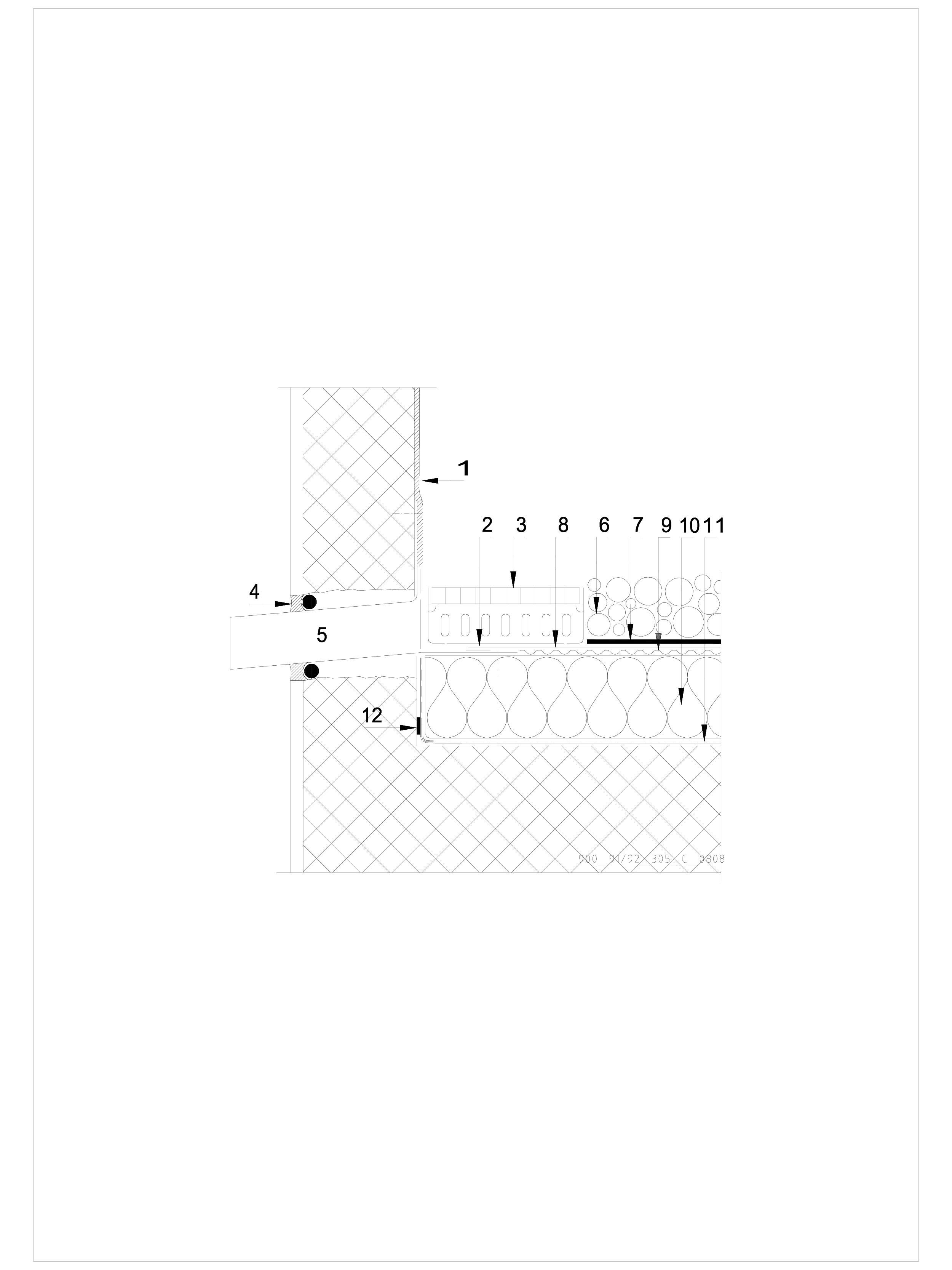 Pagina 1 - CAD-DWG Terasa recirculabila cu pietris-detaliu de scurgere laterala (gargui) SIKA...