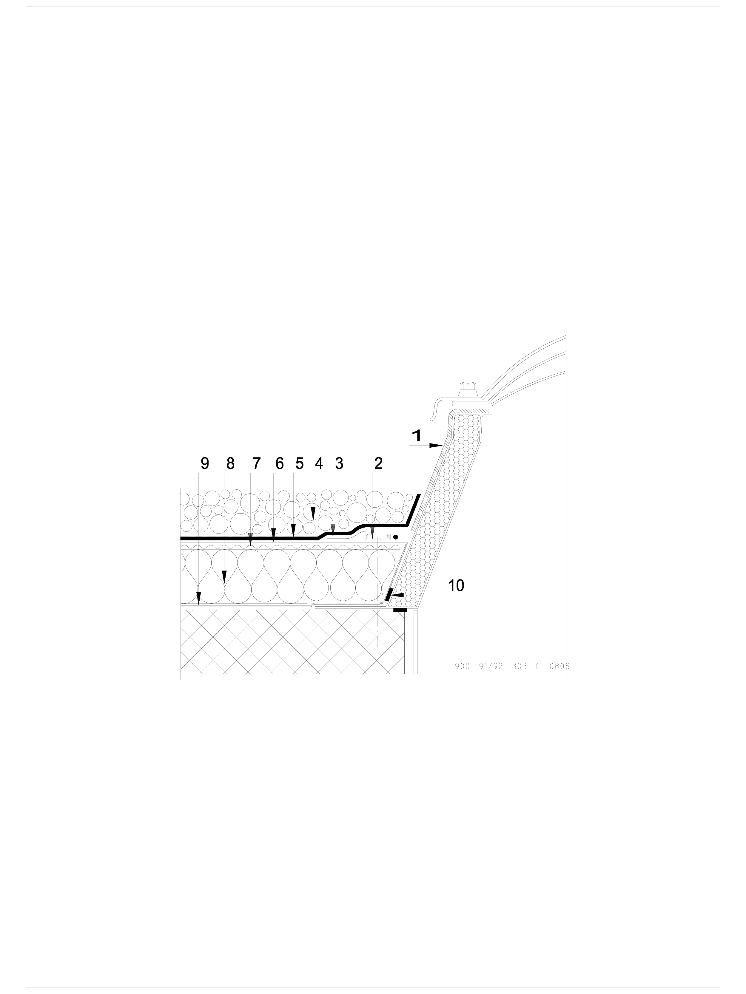 Pagina 1 - CAD-DWG Terasa recirculabila cu pietris-detaliu de racord la luminator SIKA Detaliu de...