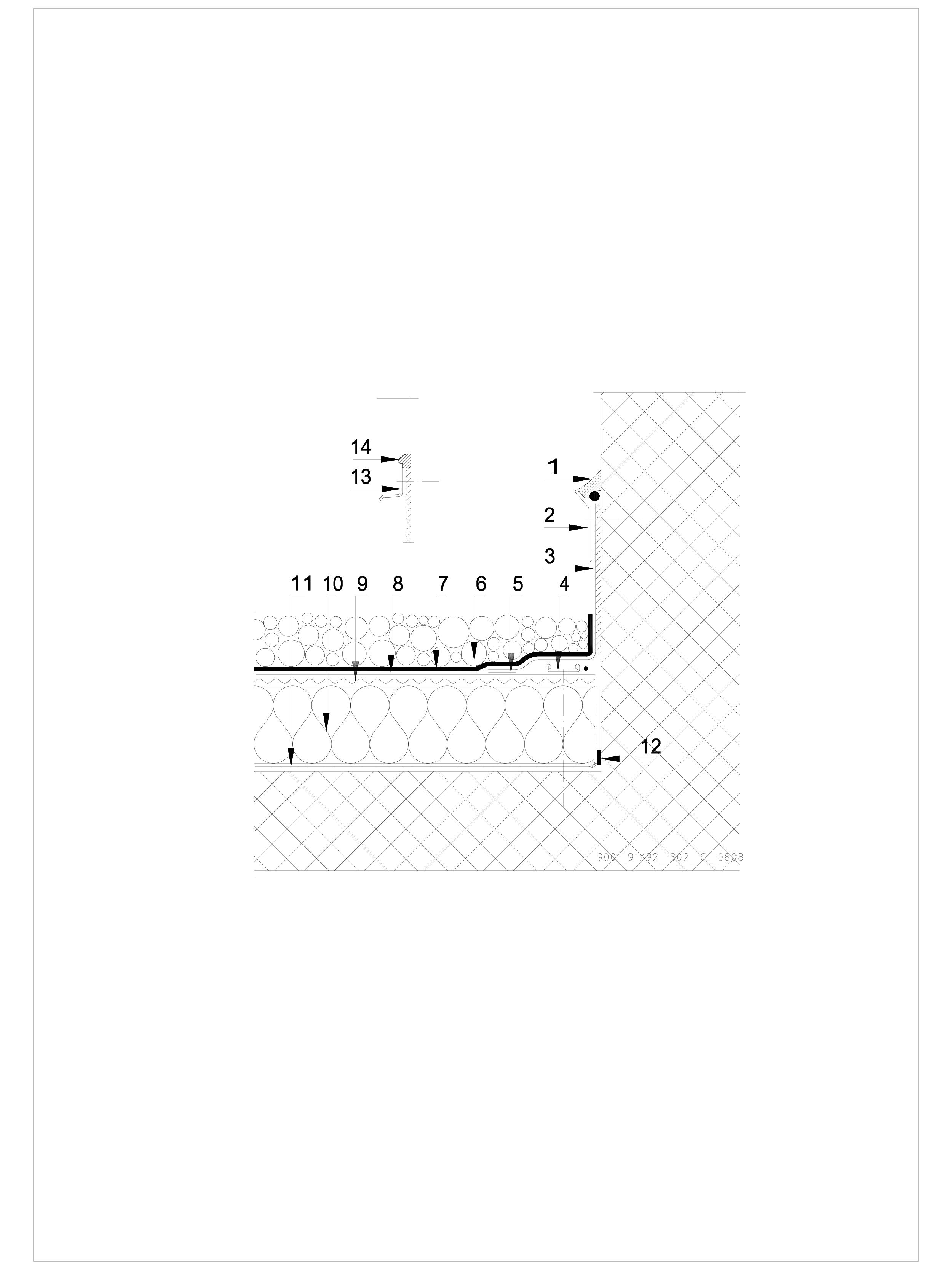 Pagina 1 - CAD-DWG Terasa recirculabila cu pietris-detaliu de etansare SIKA Detaliu de montaj Sika...