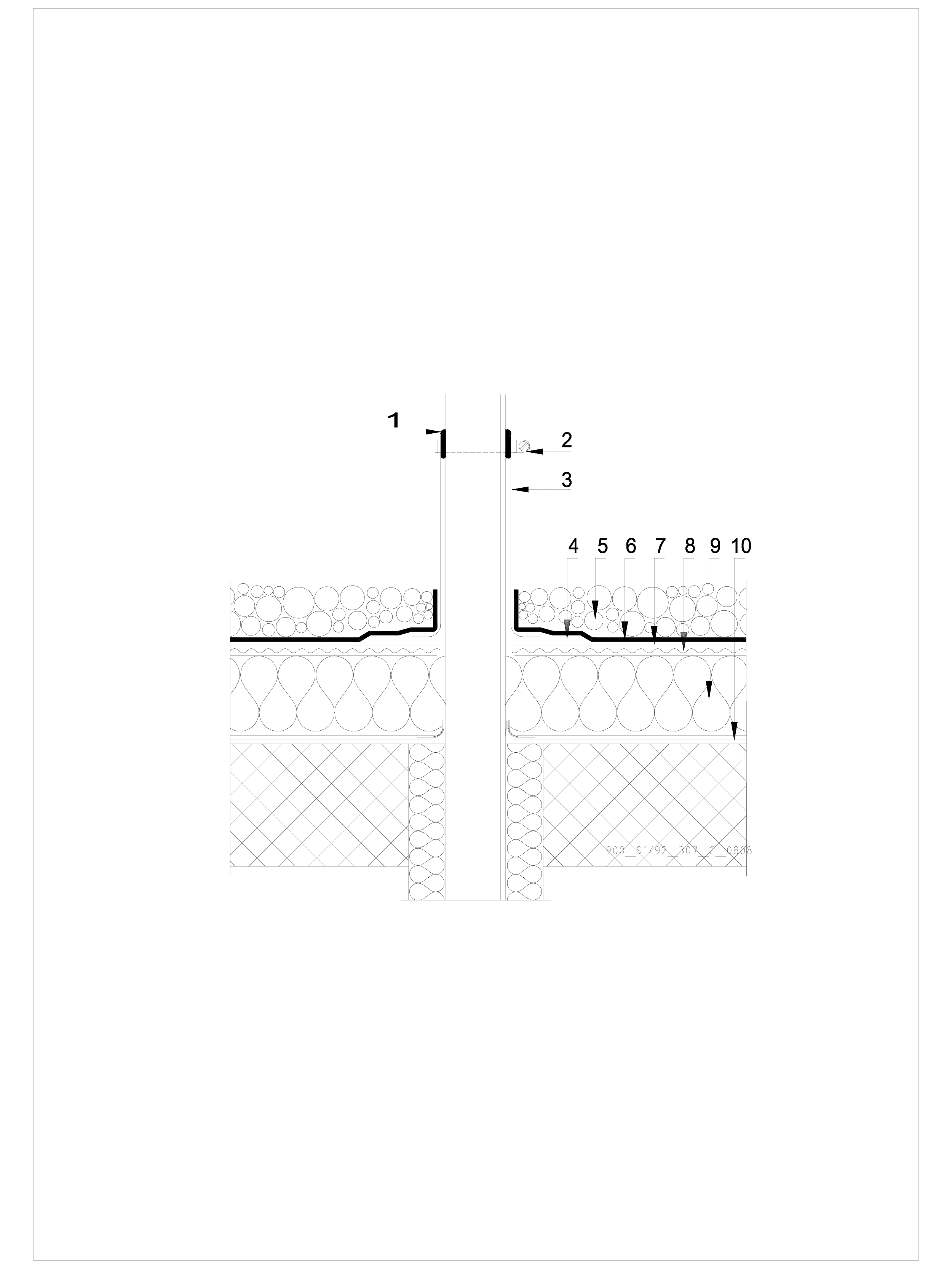 Pagina 1 - CAD-DWG Terasa recirculabila cu pietris-detaliu de ventilare SIKA Detaliu de montaj Sika ...