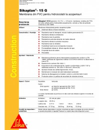 Membrana din PVC pentru hidroizolatii la acoperisuri