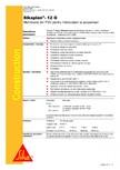 Membrana din PVC pentru hidroizolatii la acoperisuri SIKA - Sikaplan®-12 G