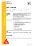 Sapa autonivelanta pe baza de ciment cu intarire rapida SIKA - Sika® Level-200