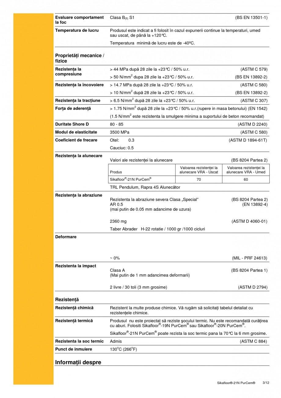 Pagina 3 - Sapa poliuretanica autonivelanta pentru incarcari medii si grele SIKA Sikafloor®-21 N...