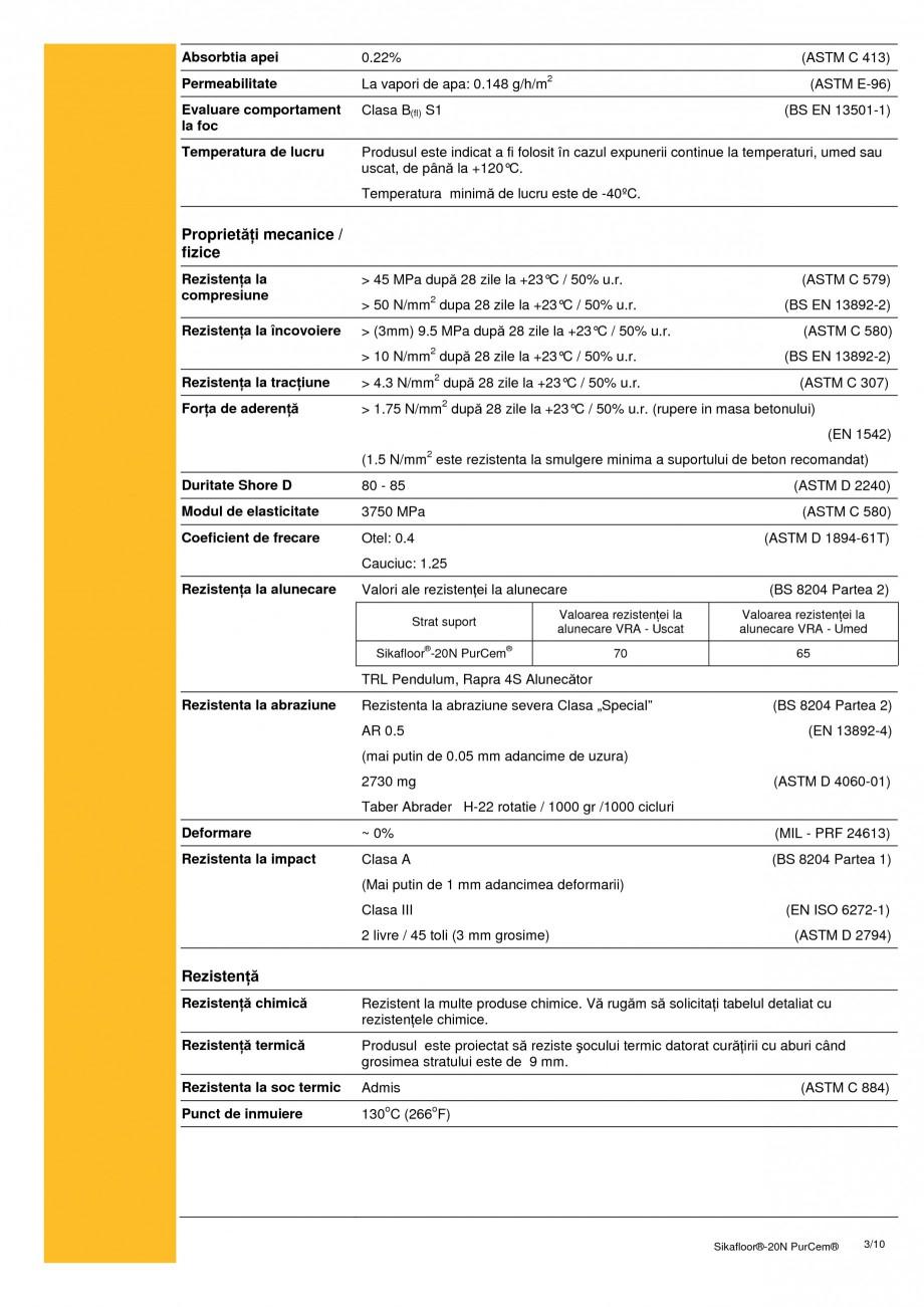 Pagina 3 - Sapa poliuretanica pentru conditii grele de lucru SIKA Sikafloor®-20 N PurCem®...