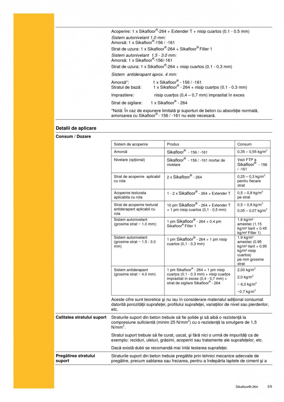 Pagina 3 - Strat bicomponent epoxidic de sigilare SIKA Sikafloor®-264 Fisa tehnica Romana e 59kg...