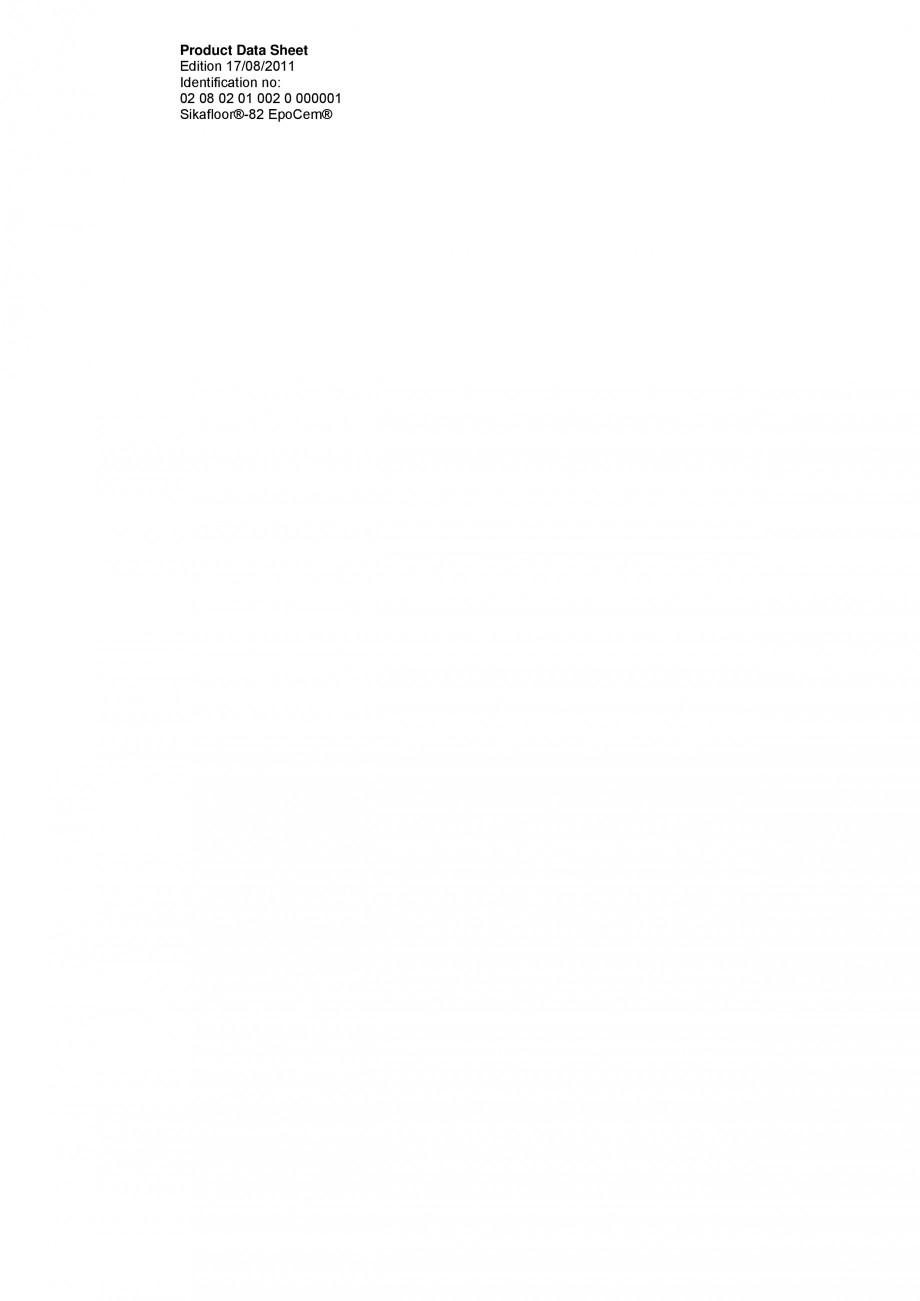 Pagina 1 - Mortar epoxidic cimentos, tricomponent, pentru sape autonivelante SIKA Sikafloor®-82 ...
