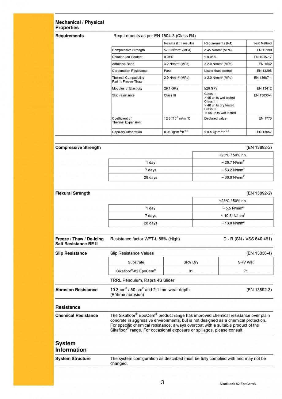 Pagina 3 - Mortar epoxidic cimentos, tricomponent, pentru sape autonivelante SIKA Sikafloor®-82 ...