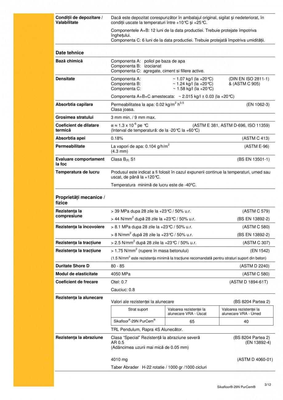 Pagina 2 - Mortar poliuretanic cu rezistenta mare pentru tencuieli si detalii SIKA Sikafloor®-29...