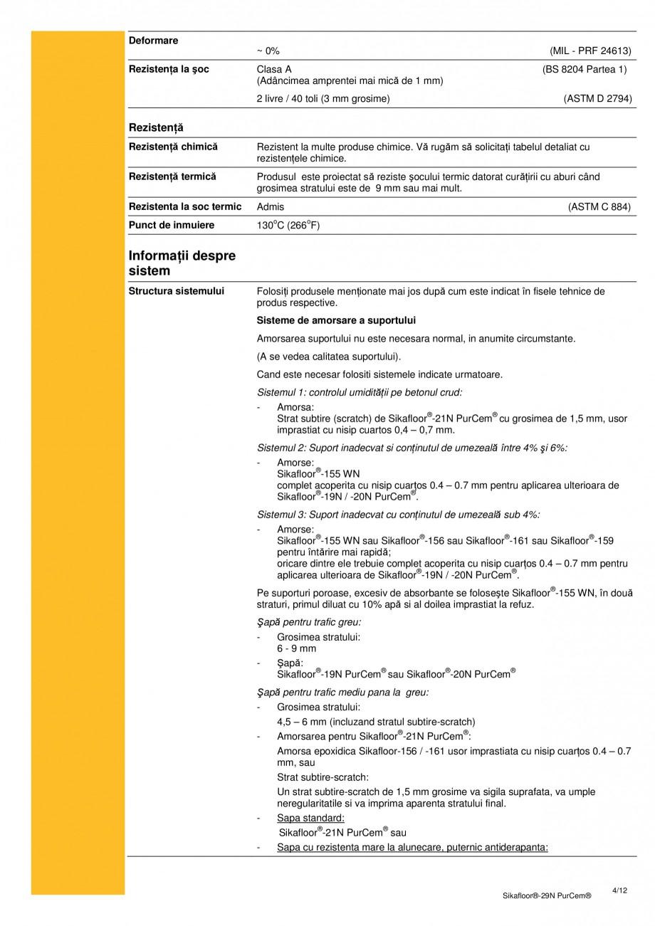 Pagina 3 - Mortar poliuretanic cu rezistenta mare pentru tencuieli si detalii SIKA Sikafloor®-29...