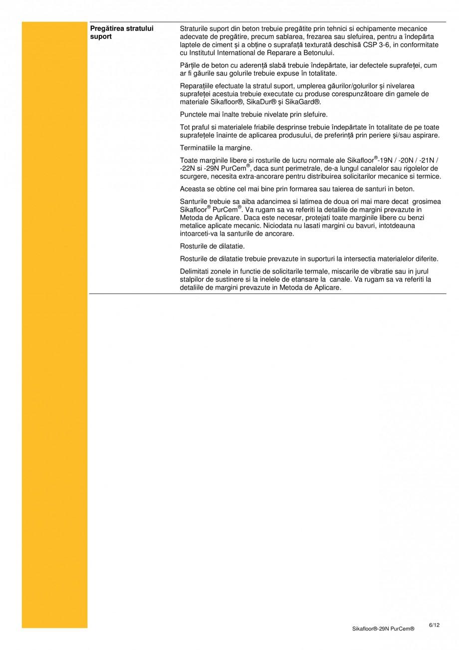 Pagina 5 - Mortar poliuretanic cu rezistenta mare pentru tencuieli si detalii SIKA Sikafloor®-29...