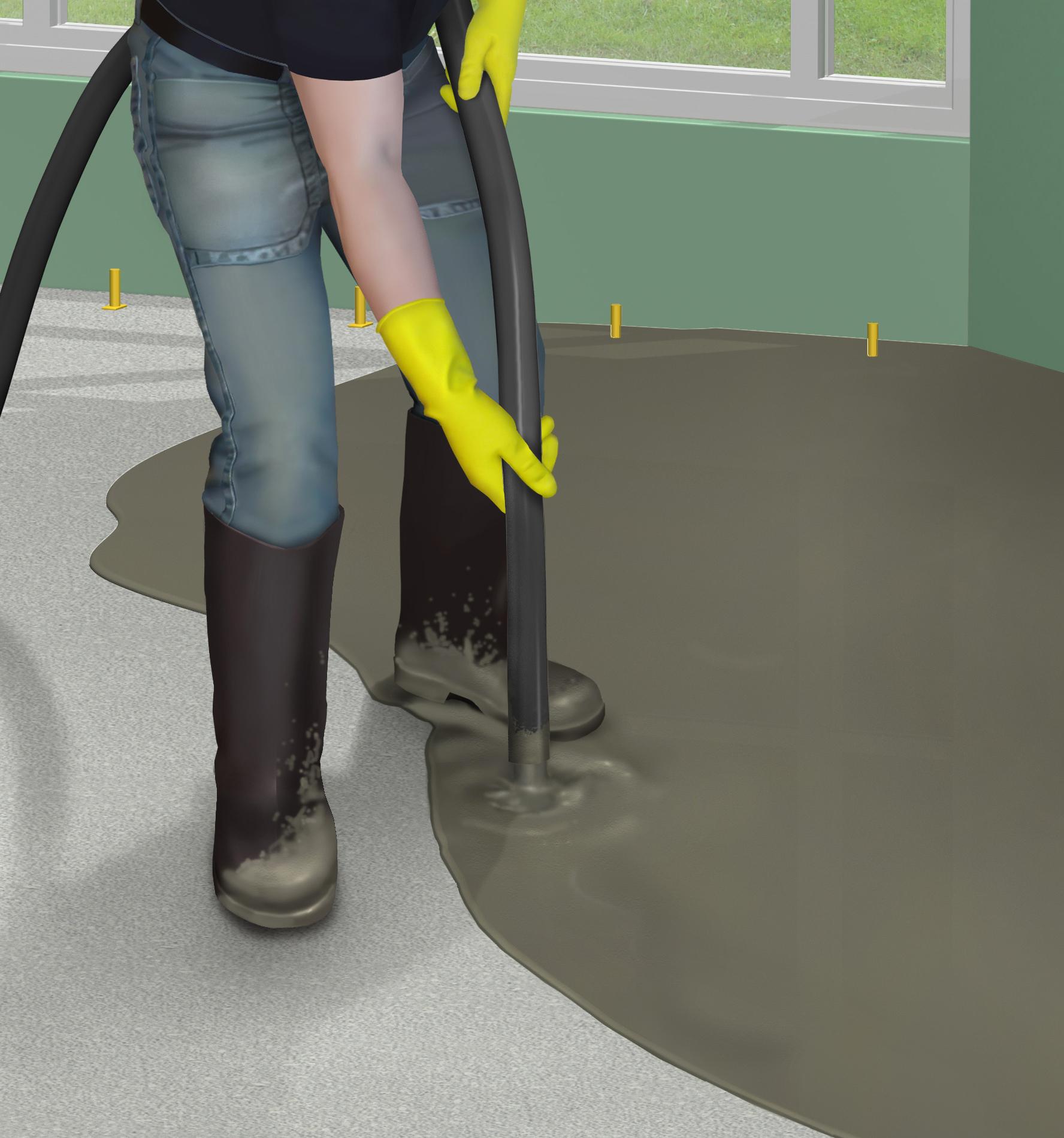 Mortar epoxidic cimentos pentru sape autonivelante - Aplicare SIKA - Poza 1