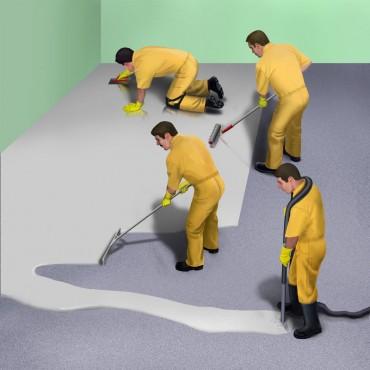 Exemple de utilizare Sapa autonivelanta pe baza de ciment - Produs si aplicare SIKA - Poza 2