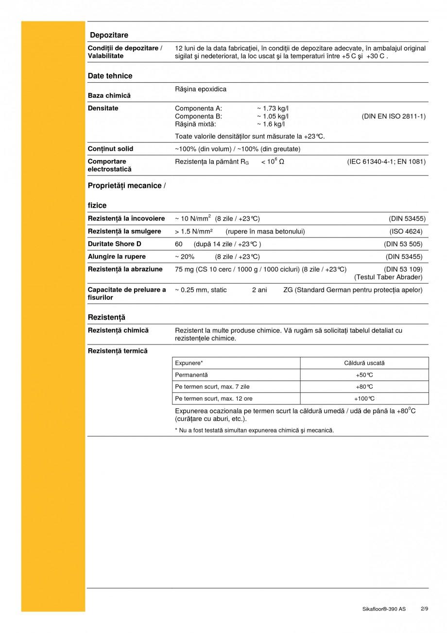 Pagina 2 - Acoperire epoxidica bicomponenta, flexibila, rezistenta chimic si conductiva...