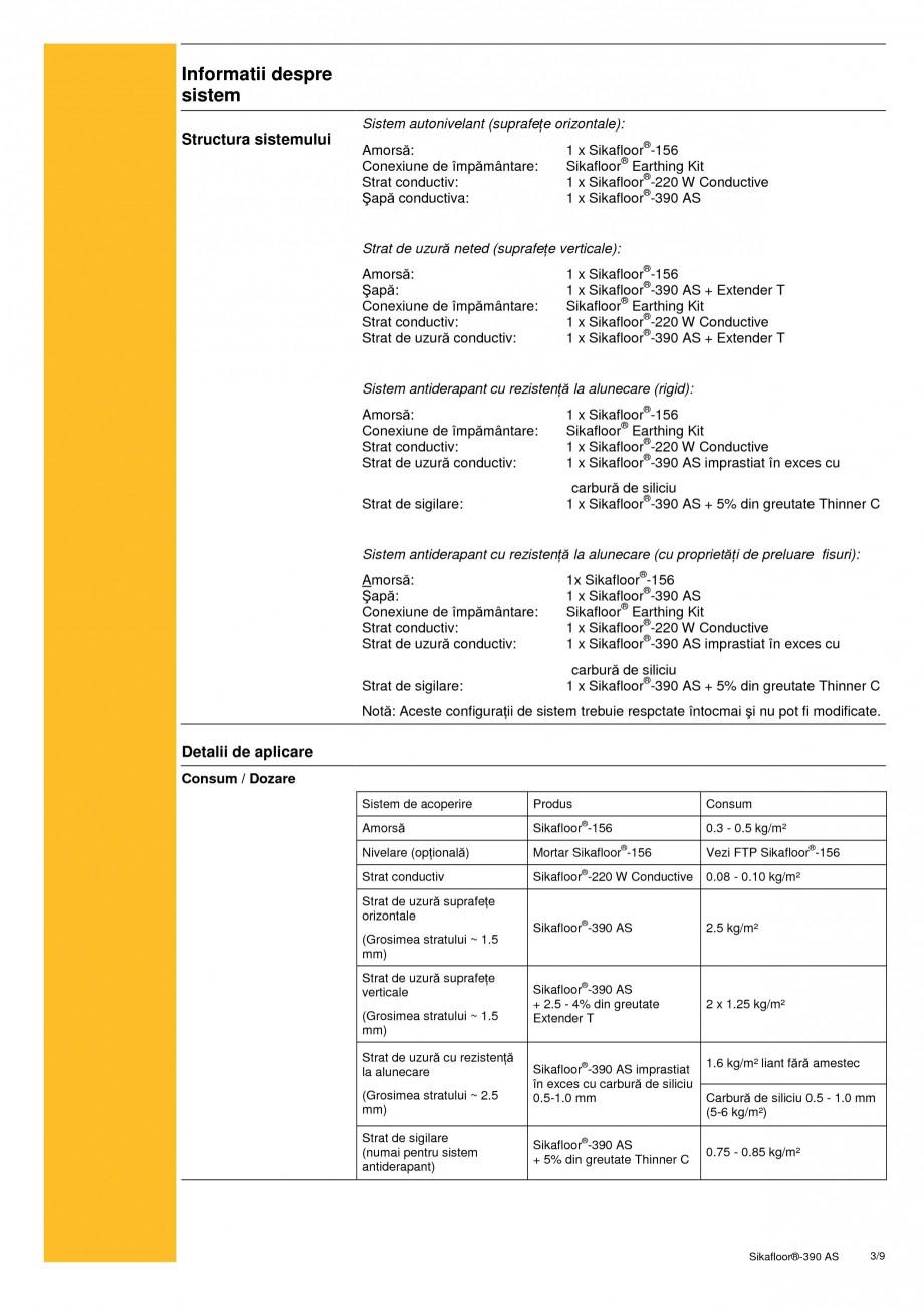 Pagina 3 - Acoperire epoxidica bicomponenta, flexibila, rezistenta chimic si conductiva...