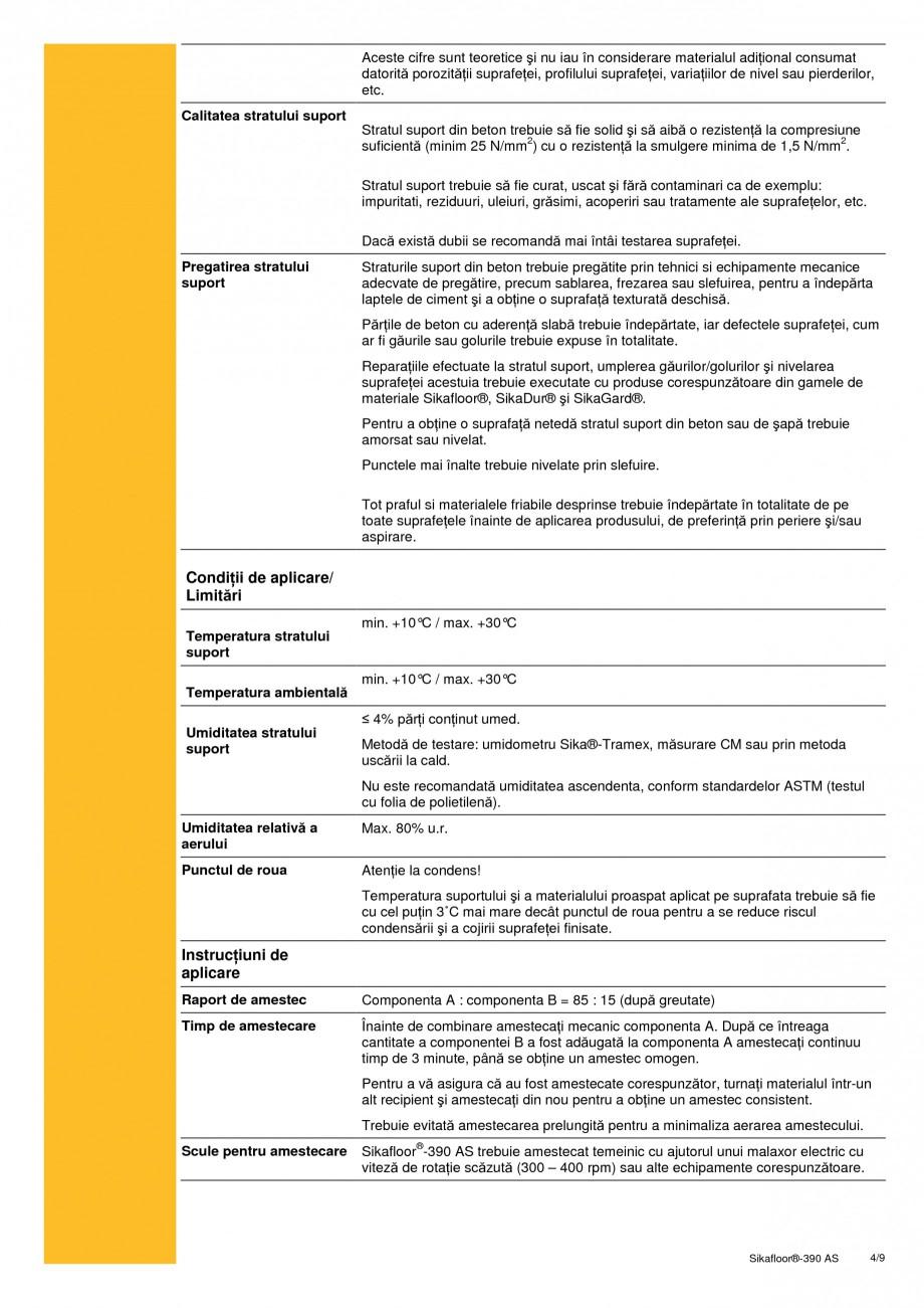 Pagina 4 - Acoperire epoxidica bicomponenta, flexibila, rezistenta chimic si conductiva...