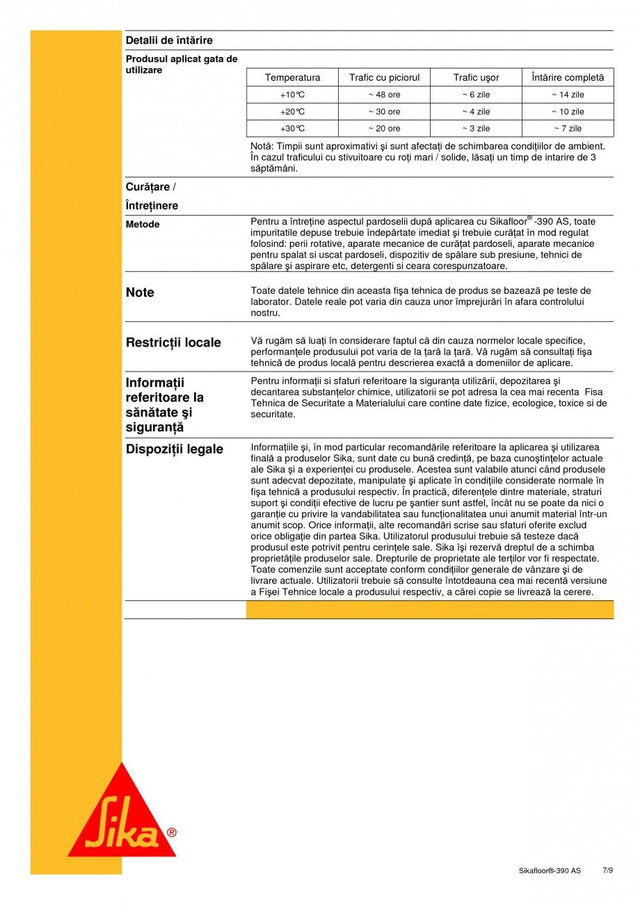 Pagina 7 - Acoperire epoxidica bicomponenta, flexibila, rezistenta chimic si conductiva...