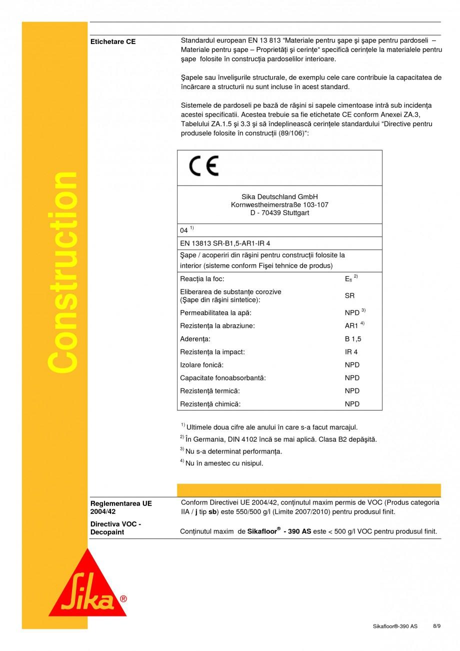 Pagina 8 - Acoperire epoxidica bicomponenta, flexibila, rezistenta chimic si conductiva...