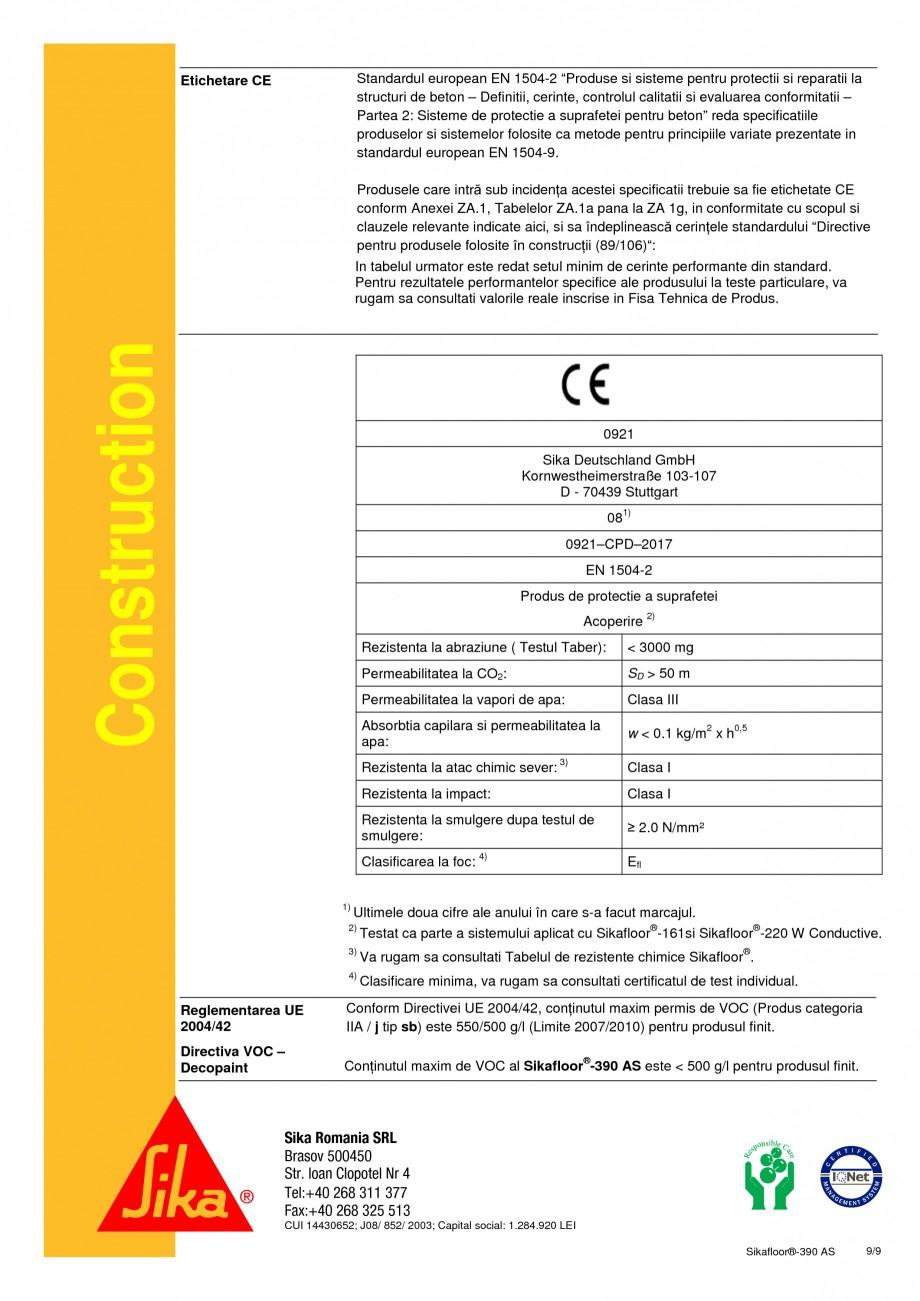 Pagina 9 - Acoperire epoxidica bicomponenta, flexibila, rezistenta chimic si conductiva...