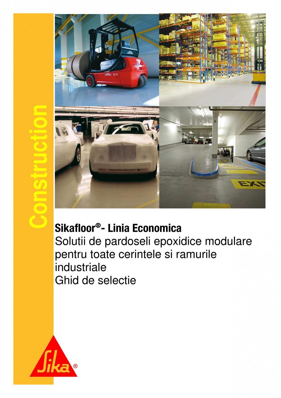 Pagina 1 - Ghid de selectie - Solutii de pardoseli epoxidice modulare pentru cerintele si ramurile...