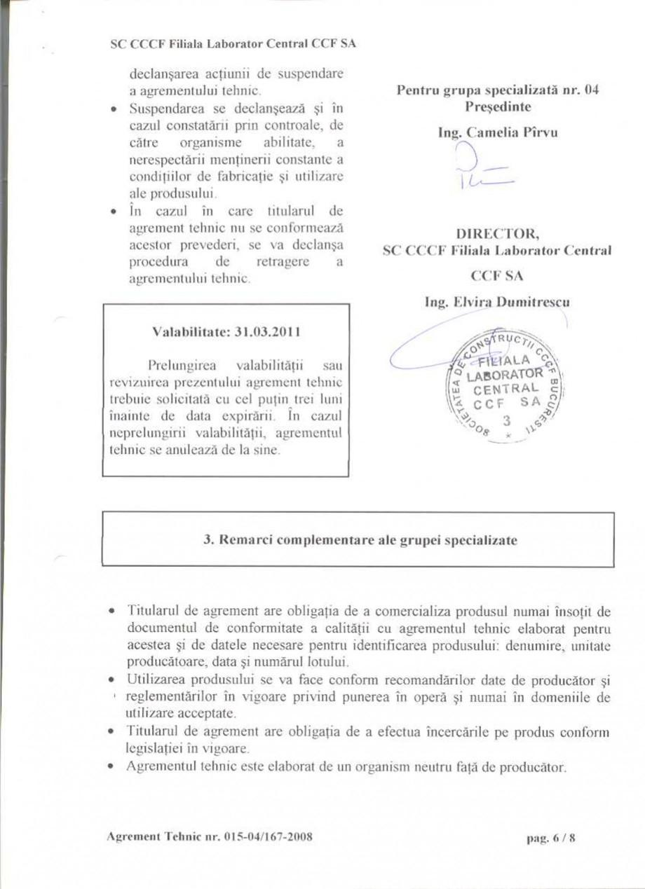 Pagina 9 - Agrement tehnic SIKA Sikafloor®-2 SynTop Certificare produs Romana
