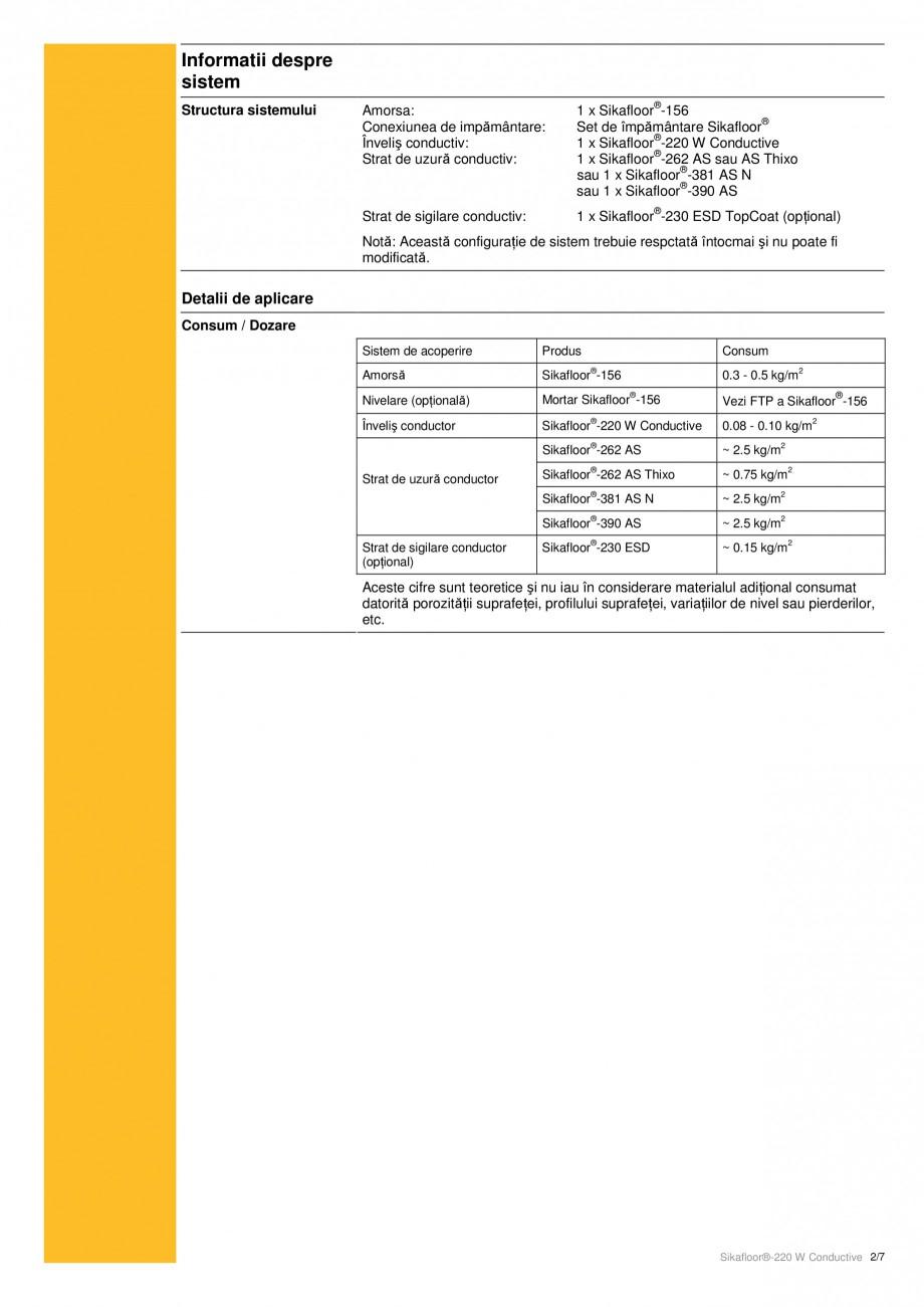 Pagina 2 - Strat de acoperire epoxidic, bicomponent cu conductivitate electrostatica SIKA...