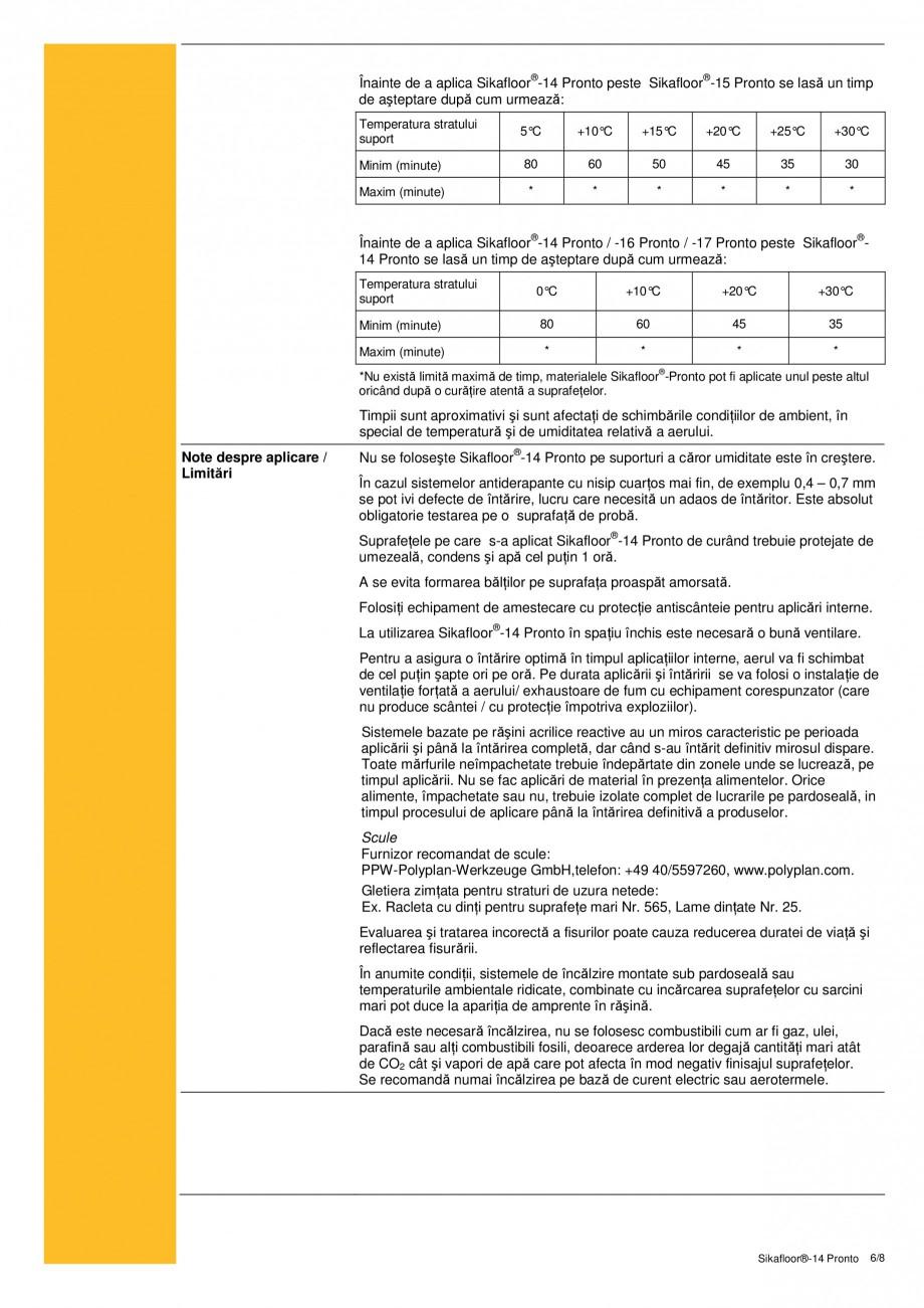 Pagina 6 - Sapa autonivelanta si mortar de nivelare tricomponent, bazat pe rasini acrilice reactive ...