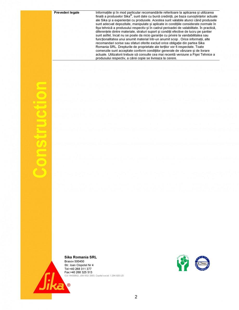Pagina 2 - Produs pentru curatarea si intretinerea utilajelor de constructii SIKA Sika®...