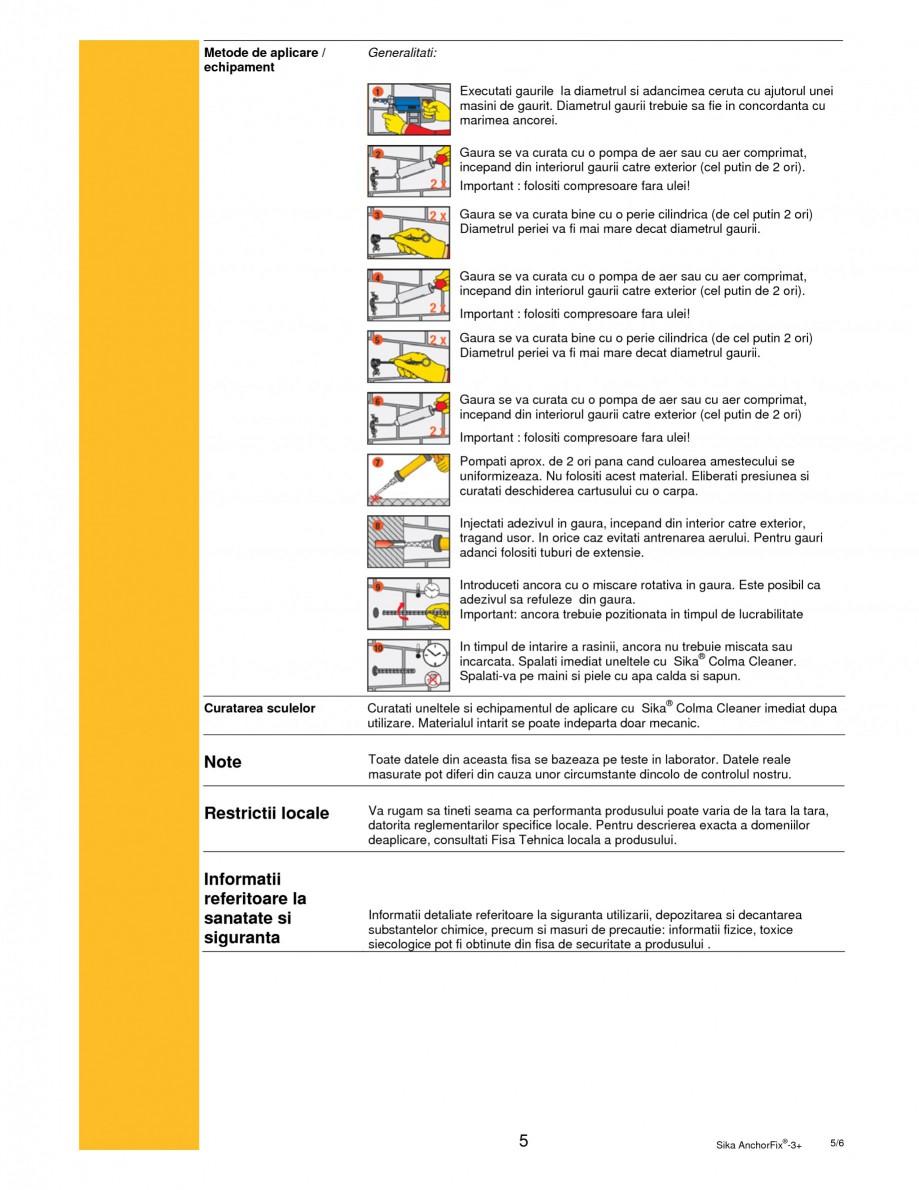 Pagina 5 - Adeziv bi-component pentru ancorari SIKA Sika AnchorFix®-3+ Fisa tehnica Romana 30 33...