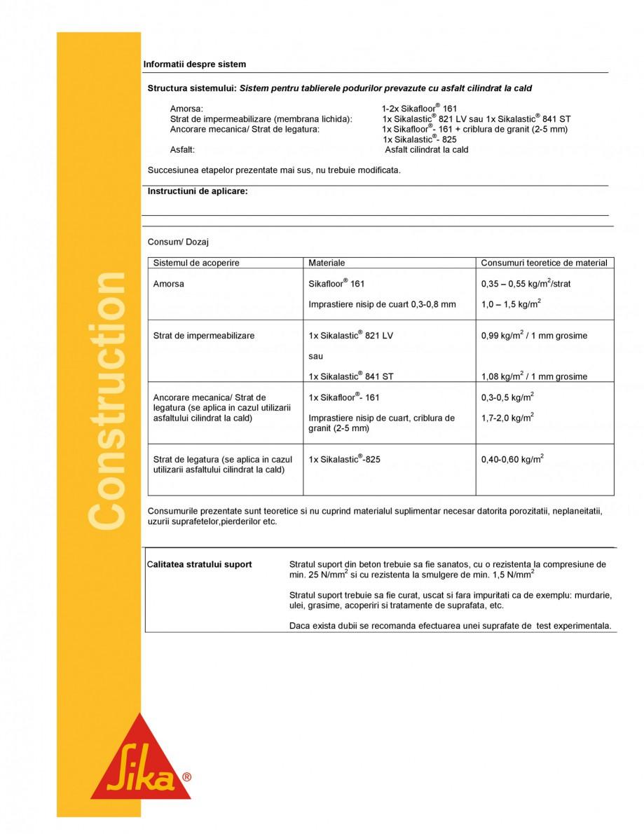 Pagina 2 - Strat de legatura bituminos pentru aderenta asfaltului cilindratla cald SIKA...