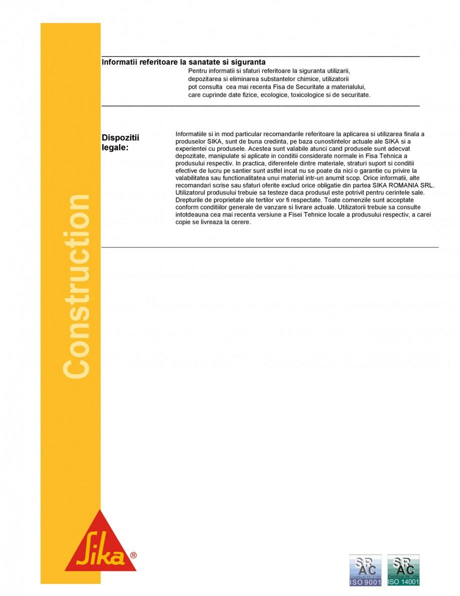 Pagina 5 - Strat de legatura bituminos pentru aderenta asfaltului cilindratla cald SIKA...