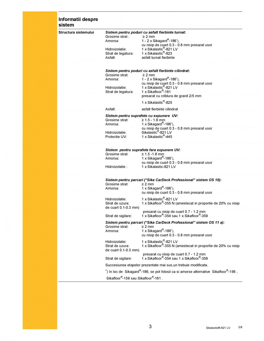 Pagina 3 - Membrana hidroizolanta cu aplicare prin pulverizare SIKA Sikalastic®-821 LV Fisa...