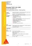 Membrana cu insertie, profilata, pentru scari la piscine SIKA - Sikaplan® WP 3100-15RE