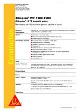 Membrana de hidroizolatie pentru bazine si iazuri SIKA