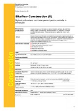 Sigilant poliuretanic monocomponent pentru rosturile la constructii SIKA